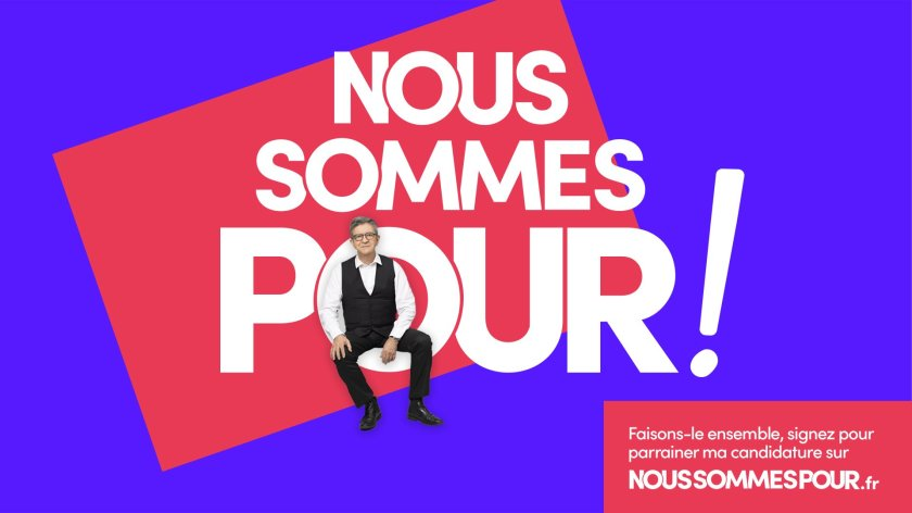 L'affiche de Jean-Luc Mélenchon pour demander un plébiscite des Français